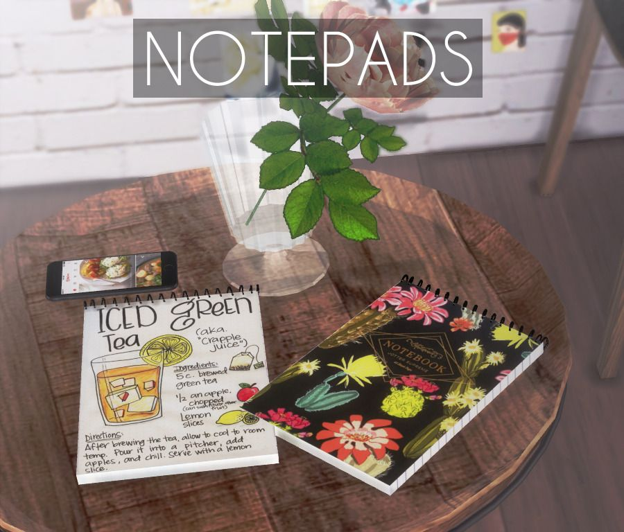 Notepads -Decor / Misc -Clutter §10 DOWNLOAD! objects sims 4