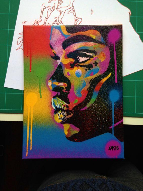 16++ Spray paint stencil art on canvas ideas