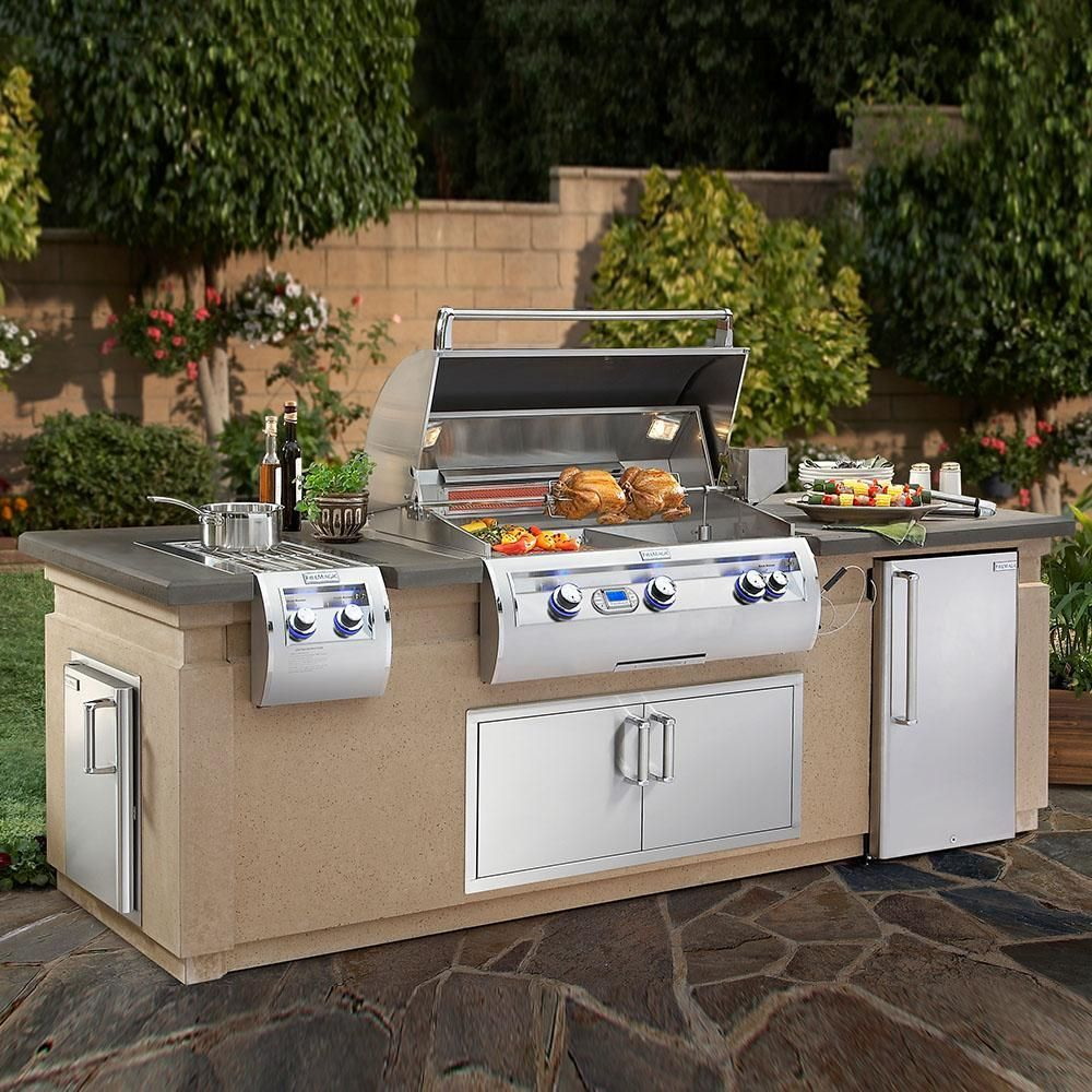Outdoor Küche Fire Magic Fire Magic 790 Island System With Refrigerator Cut Out In 2019