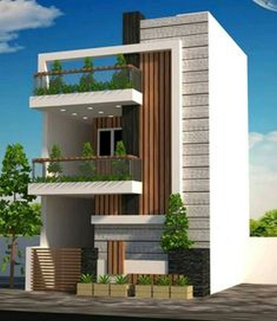 House Front Design For Double Floor With Modern Home Design Ottawa With Two Storey House Front View In 2020 With Images House Front Design 2 Storey House Design Facade House