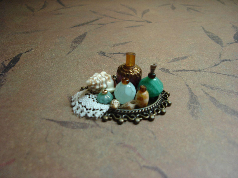 "Miniature Perfume Tray ""Turquoise Seas"". $20.00, via Etsy."