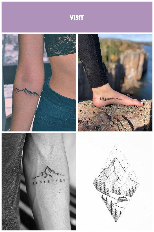 Kleine Mountain Inner Forearm TattooIdeen für  Mountain Tattoos