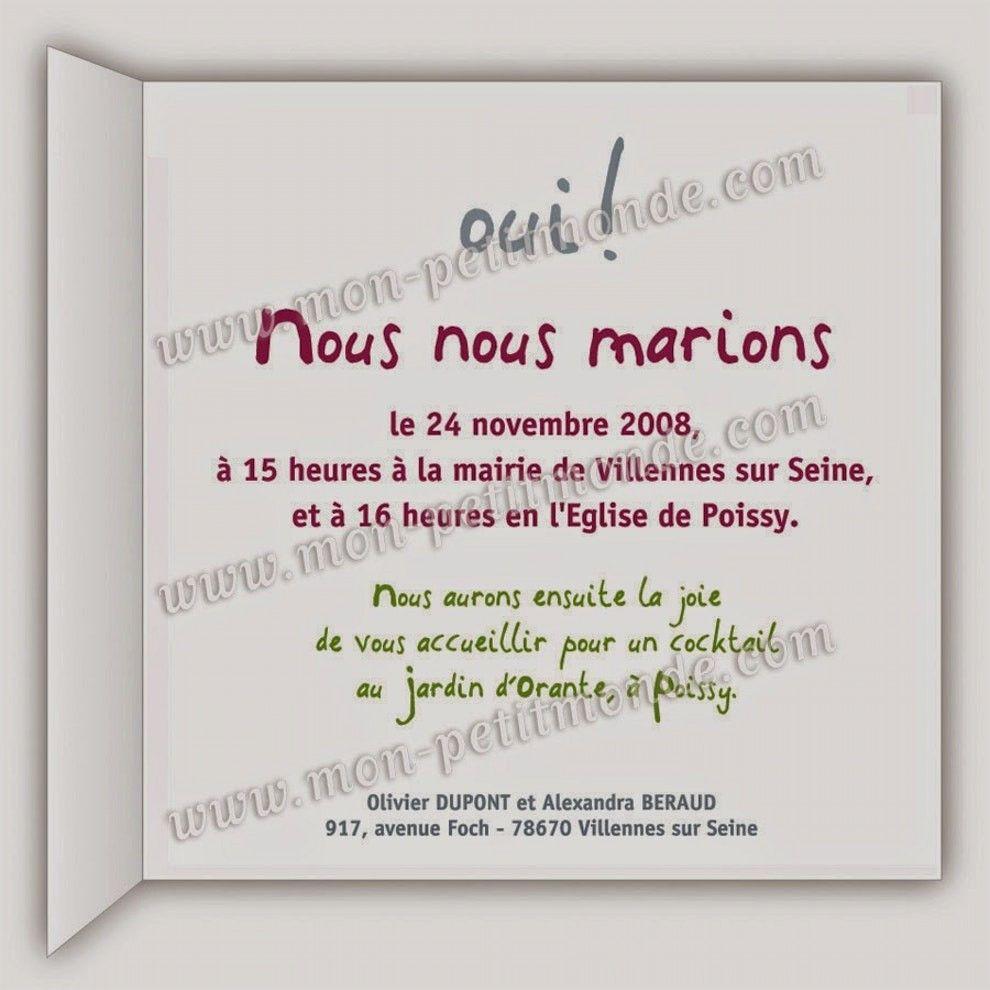 carte de mariage texte Carte D'anniversaire De Mariage Texte Elegant Texte Faire Part
