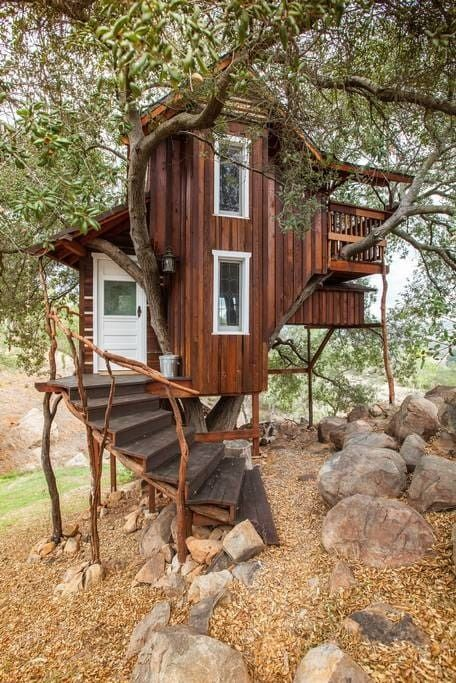 The 7 Most Amazing Treehouse Rentals Worth Driving To From L A Tree House Designs Building A Treehouse Tree House Diy