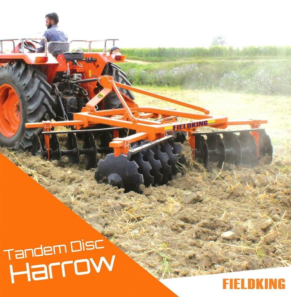Tandem Disc Harrow Fieldking Agricultural Machinery And Implements Tandem Harrow Tractor Implements