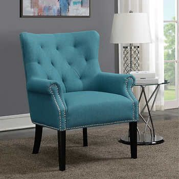 Best Andrea Fabric Accent Chair Turquoise Blue Accent Chairs 400 x 300