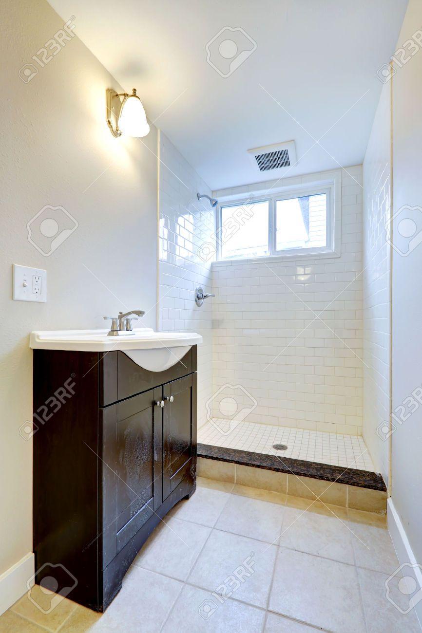 30282996Brightemptybathroominteriorwithsmallwindowone Prepossessing Small Bathroom Window Inspiration Design