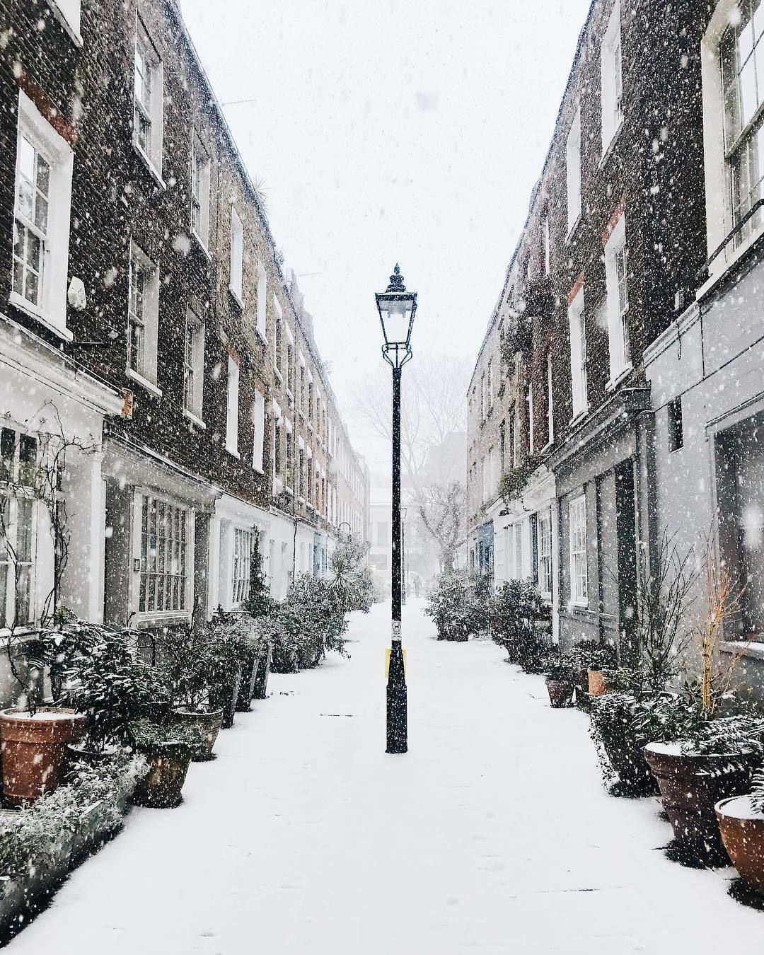 From Eastlondonmornings Taken Of The Pretty Snowy Streets Of