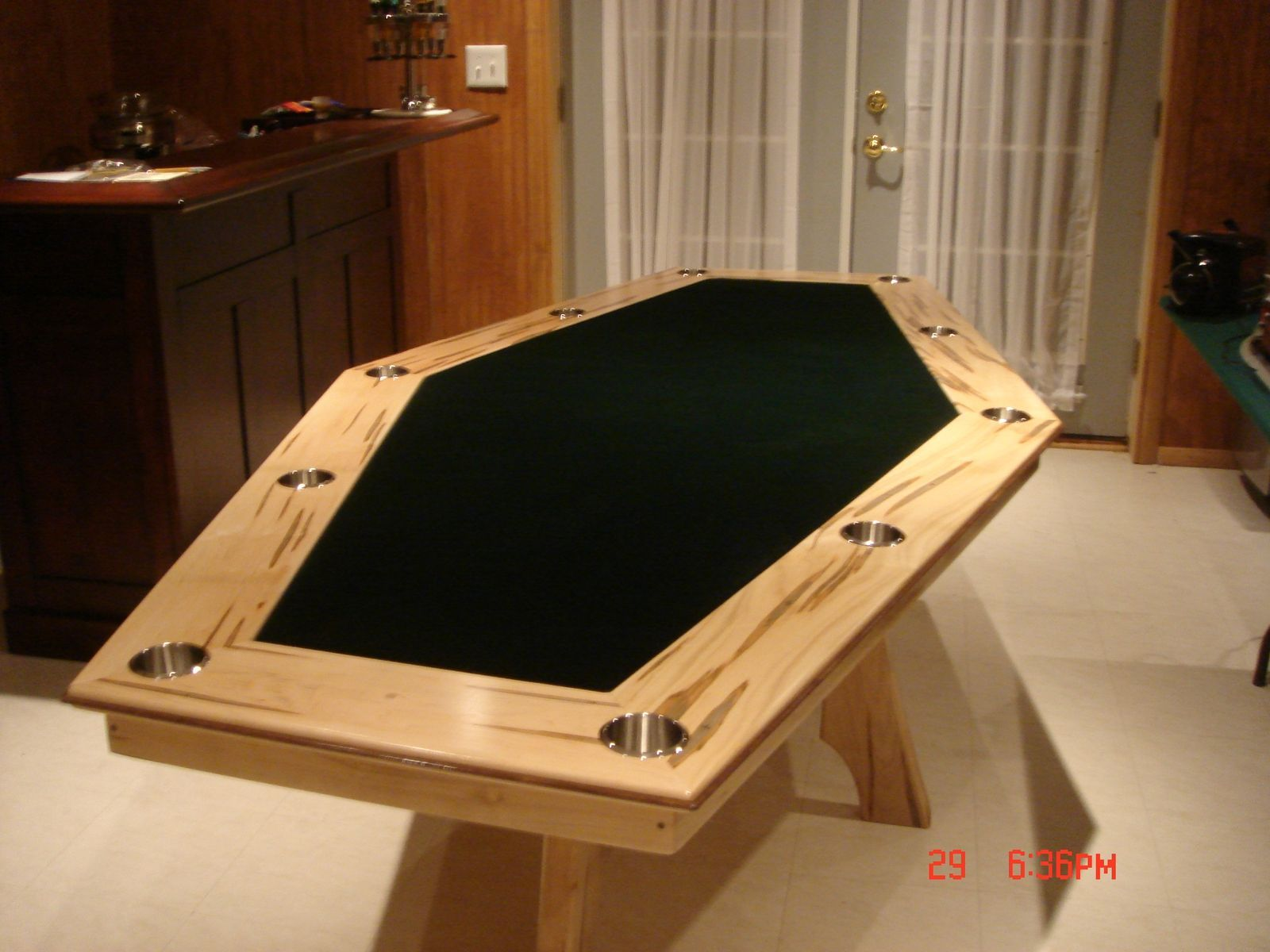 Custom Made 6 Sided Maple Game Table