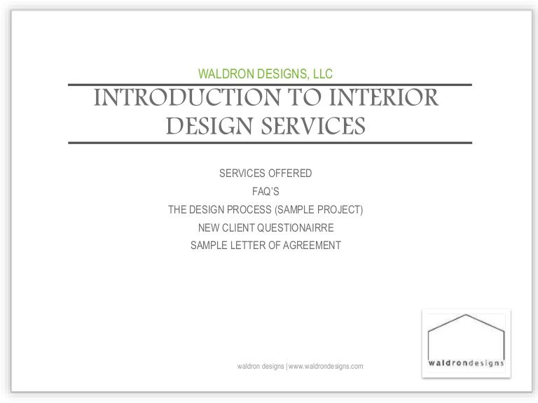 Introduction To Interior Design Services With Waldron Designs