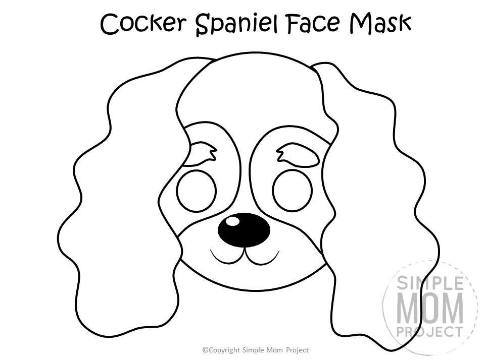 Dog Face Mask Templates Puppy Coloring Pages Dog Template Dog Coloring Page