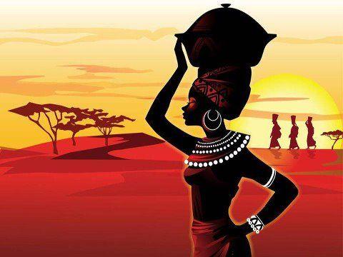 art Beautiful african