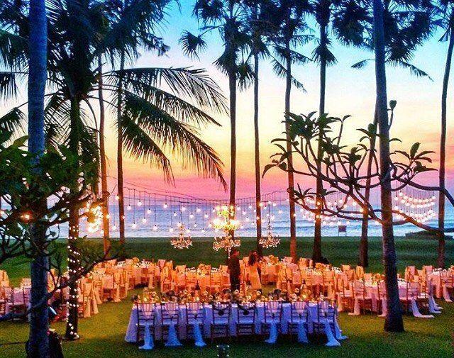 Bali Wedding Inspo Bali Wedding Venues Sunset Hanging Lights