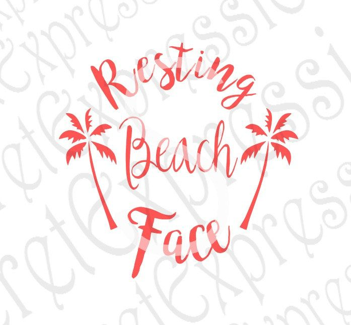 Resting Beach Face Svg Beach Svg Summer Svg Beach Face Svg Digtial File Png Eps Jpeg Dxf Svg Cricut Svg Silhouette Svg Resting Beach Face Sign Stencils Etsy Store Banner