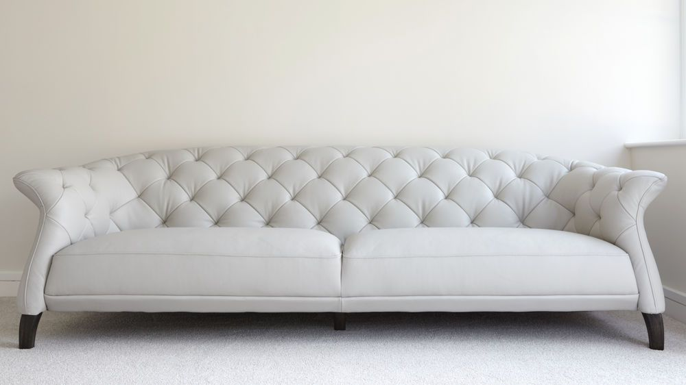 Luxe Modern Large 3 Seater Leather Chesterfield Sofa | Sofa ...