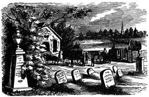 Vintage Graveyard Scene Free Clip Art Halloween Illustration Vintage Halloween Images Clip Art Vintage