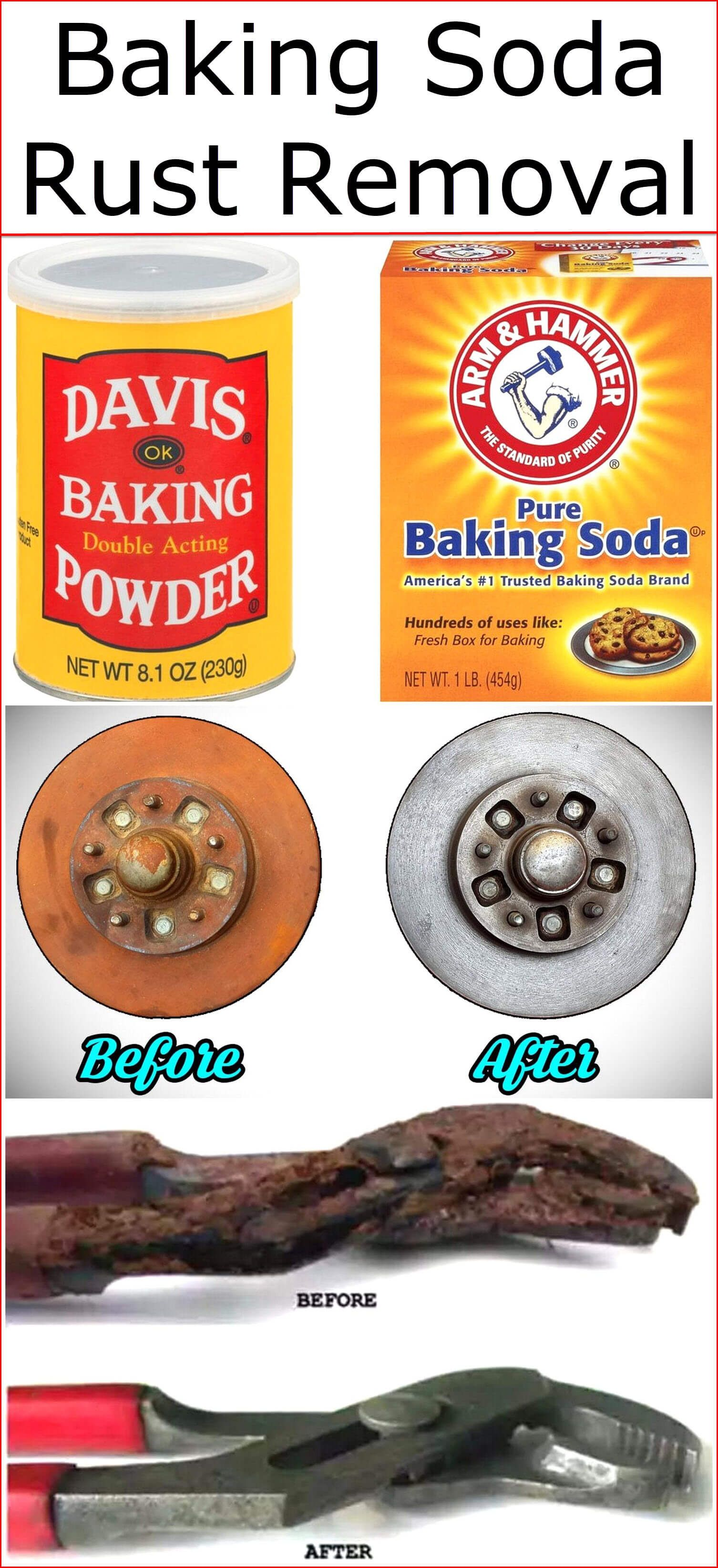 Baking Soda Rust Removal How To Remove Rust Baking Soda How To Clean Rust