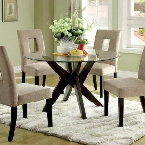 42 Round Glass Top Dining Table Sets | Farmhouse style bathrooms ...