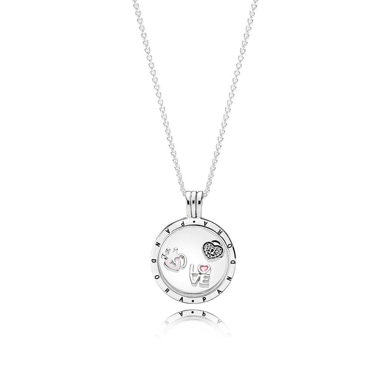 cd06e9b578df Pandora Medaillon-Set 590529-60 Silber