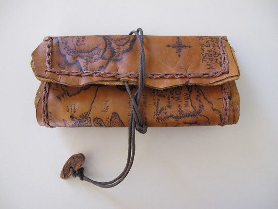 Brandmalerei Leder Handmade Exclusive Leather Tobacco Pouch With Pyrography
