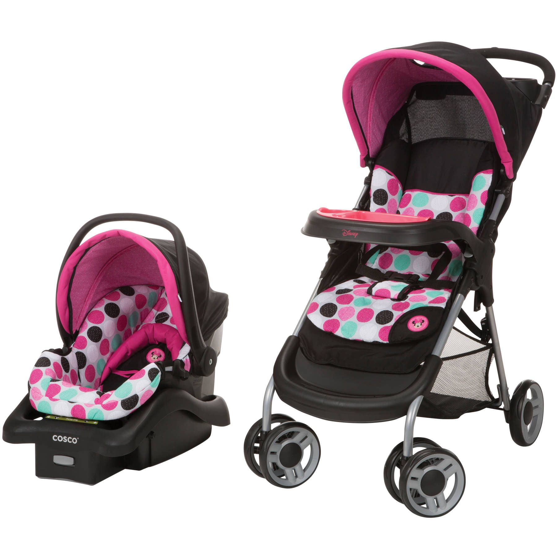 MINNIE MOUSE Dotty Lift and Stroll Plus Travel System from Safety ...