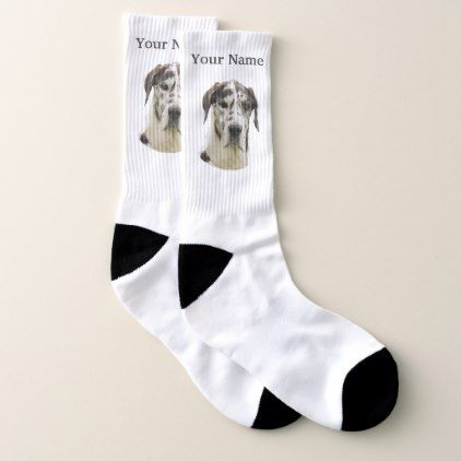 Great Dane Dog Socks Zazzle Com Dog Socks Dane Dog Great