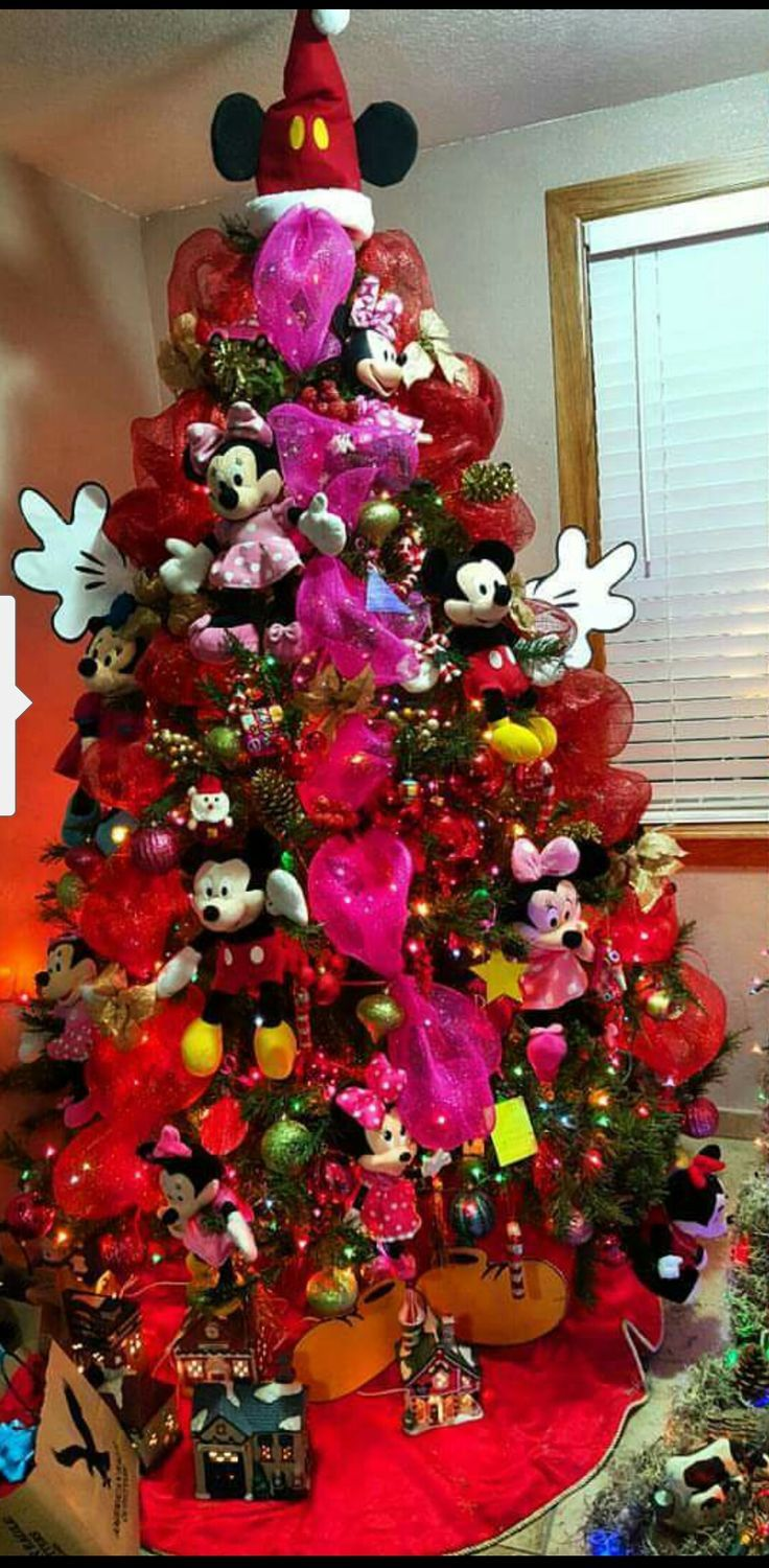 my youngest loves mickey mouse clubhouseso with all her plush toys i decided to make a mickey and minnie mouse clubhouse christmas tree - Mickey Mouse Clubhouse Christmas