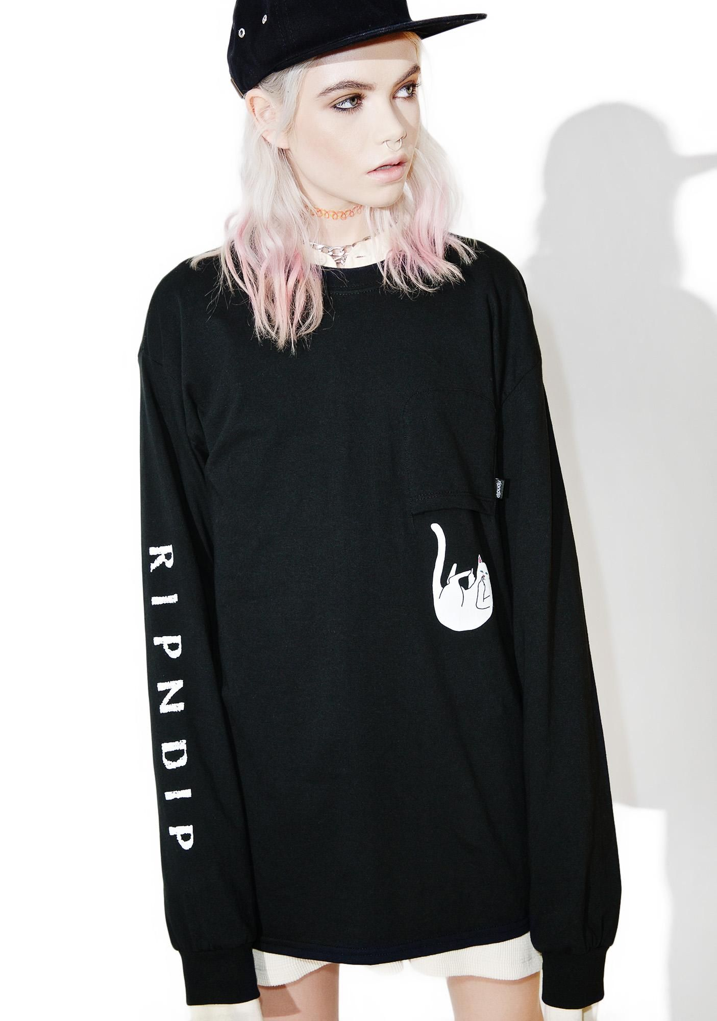 0a81d8587e7 RIPNDIP Falling For Lord Nermal Long Sleeve wants to dip real quick ...