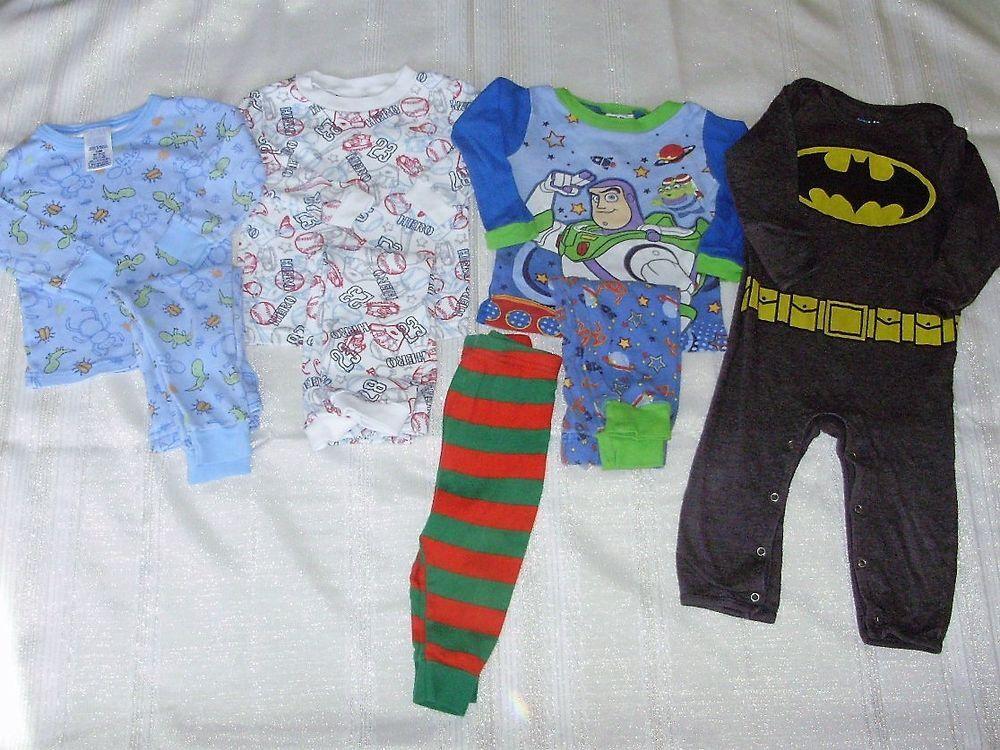 e2014f9d5 Lot of Baby Boy Novelty Pajamas Sleepwear 12-18 Months