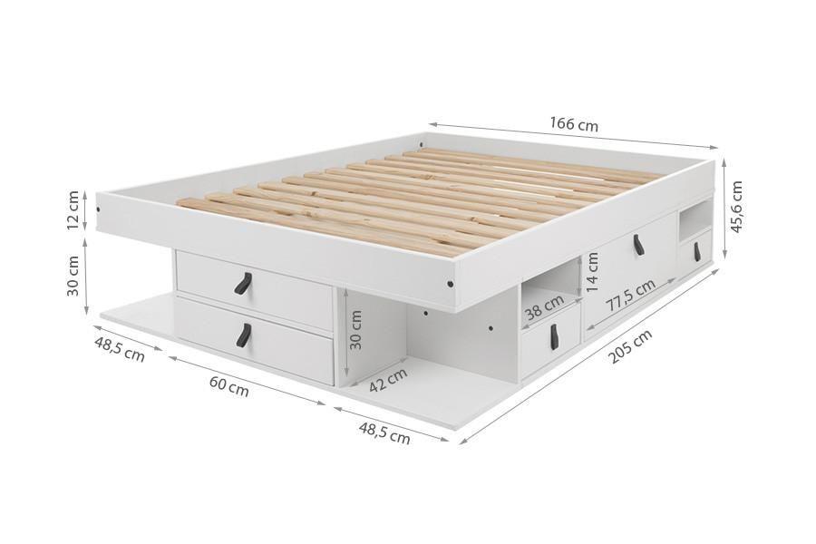 Funktionsbett 160x200 Bali Viel Stauraum Schubladen Preis Inkl Lattenrost In 2020 Funktionsbett Schubladen Und Bett