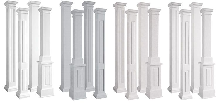 EnduraStone Square NonTapered Architectural Columns Stair Pics