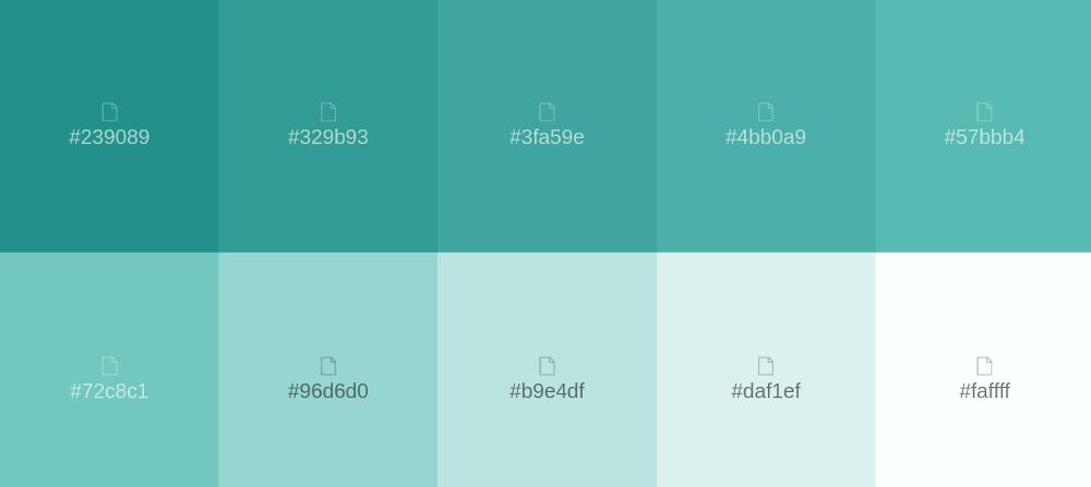Paleta De Colores Turquesa En 2020 Paleta De Colores Azul Paleta De Color Verde Paleta De Colores