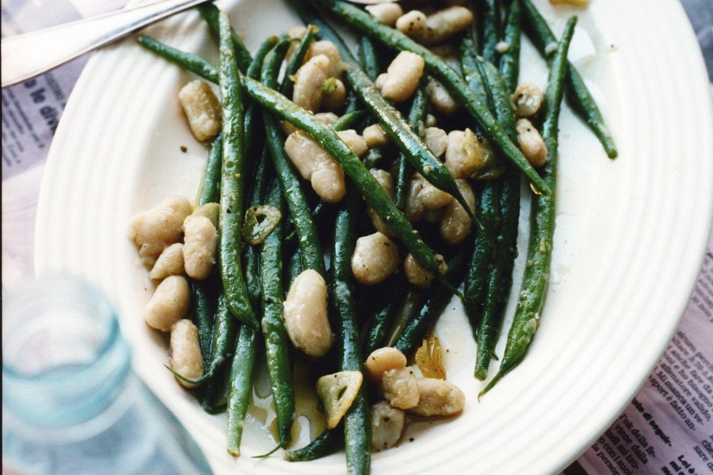 haricots verts recept vitlök