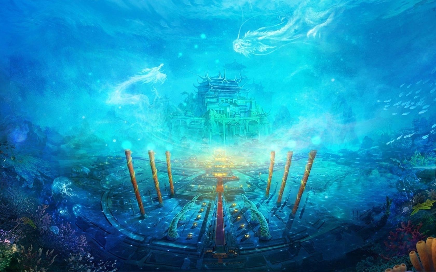 Hd Wallpapers Ocean Wallpaper Underwater City Dragon City