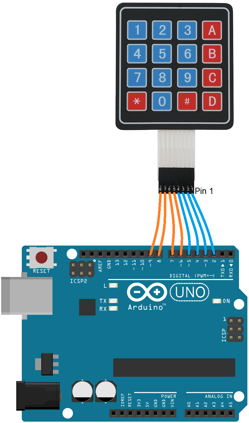 Learn to interface 4x4 Keypad matrix to arduino with keypad