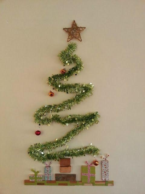 Un rbol muy sencillo y a la vez elegante y moderno - Arbol de navidad elegante ...