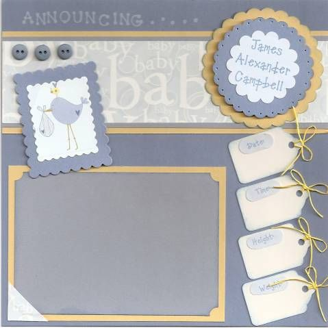 Baby Boy Scrapbook by jk's mom - Cards and Paper C