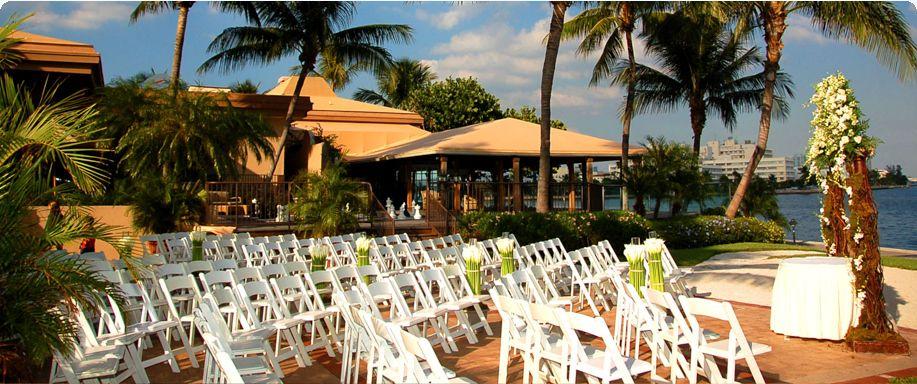 Grove isle wedding waterfront florida waterfront wedding