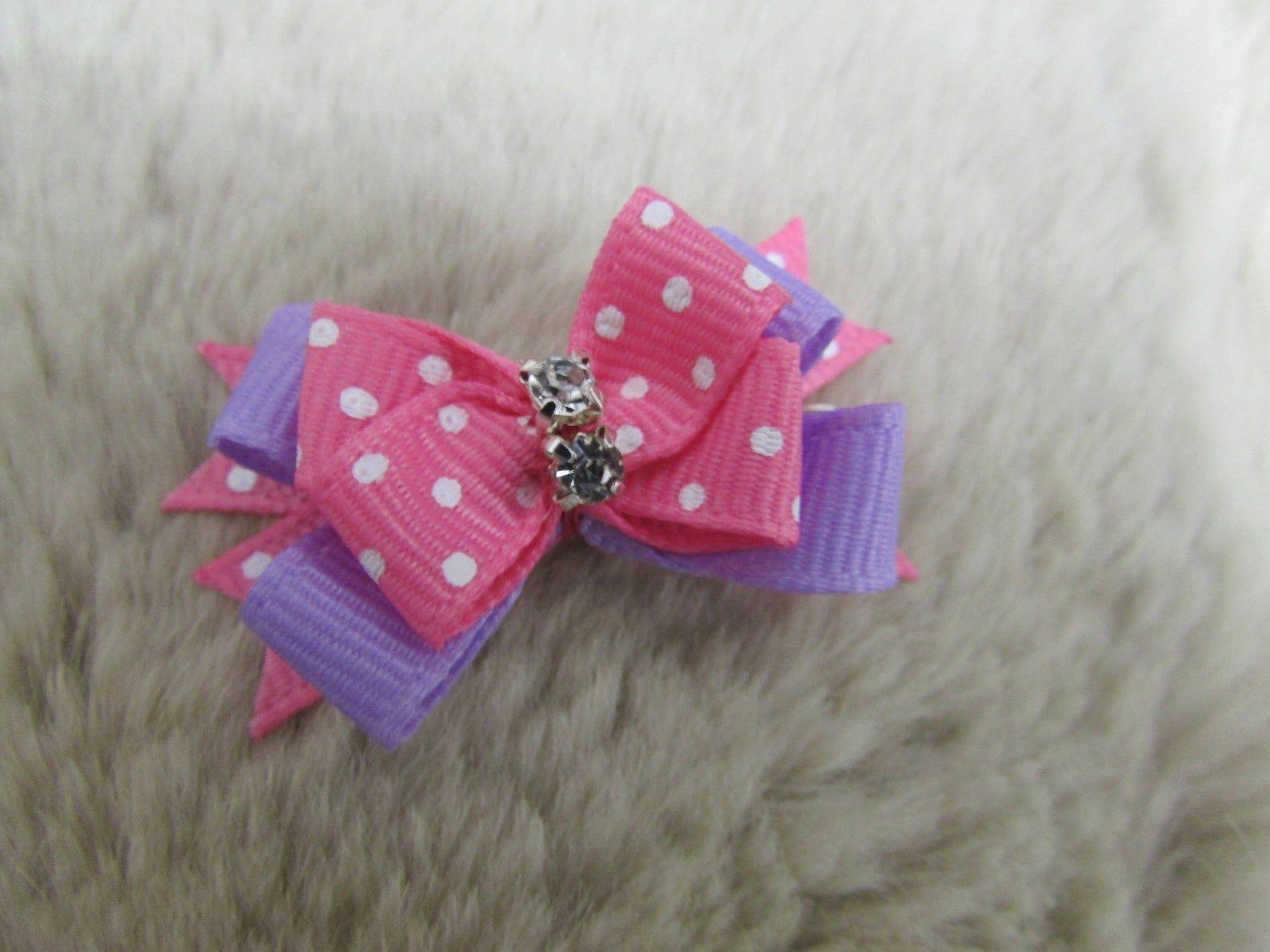 Mo's USA Dog Bow xs Dog boutique bow yorkie bow+