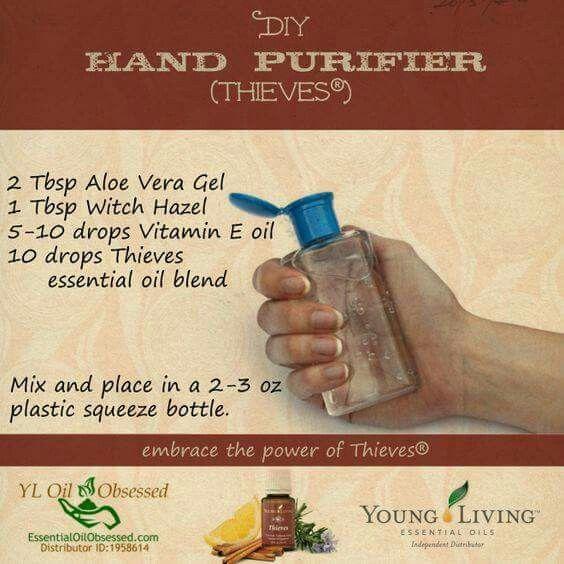 Hand Sanitizer Thieves Essential Oil
