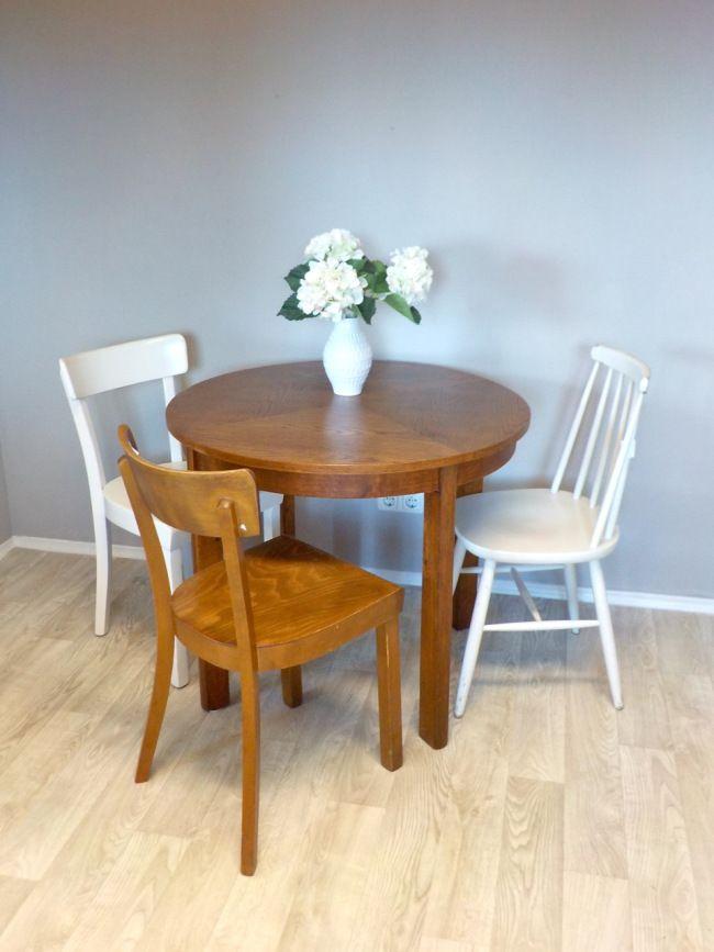 U M G E S T A L T E T ! | Runde tische, Eiche und Tisch