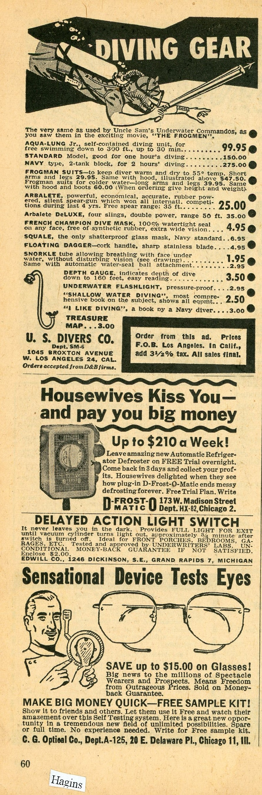 1952 ads. I believe everything. Hagins collection.