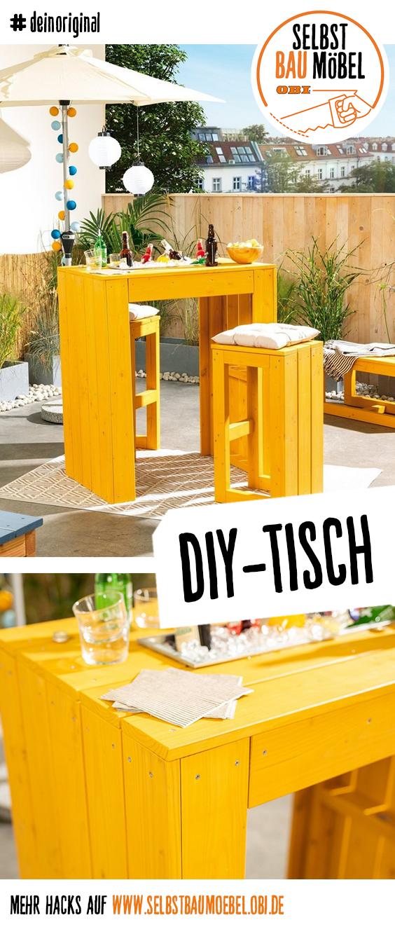 Gartentisch Lotte Selber Bauen Alle Mobel Create By Obi Gartentisch Hochtisch Gartenparty