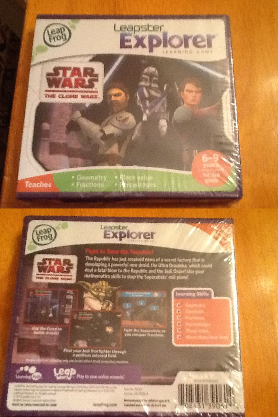 Uncategorized Star Wars Learning Games game cartridges and books 177916 star wars the clone leapster explorer learning game