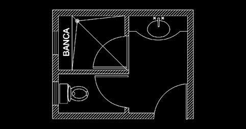 Diseño de baño en autocad en planta en 2020   Autocad ...
