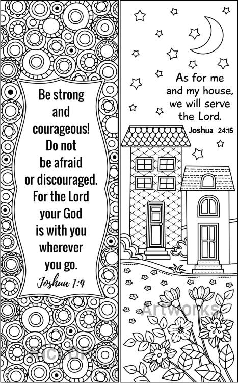 8 Bible Coloring Bookmarks Set 2 Bible Coloring Pages Book