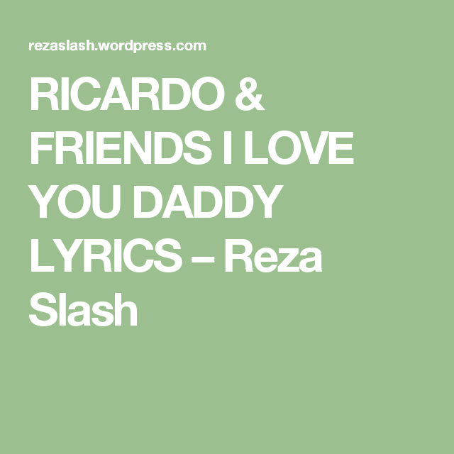 I love you reza
