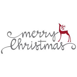 Silhouette Design Store: Merry Christmas With Reindeer Phrase