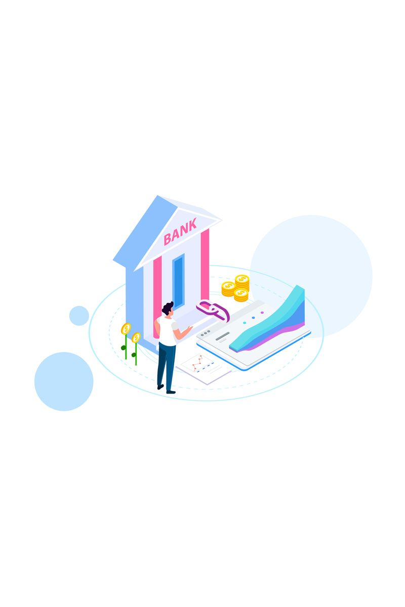 Connect With Bank 2 Illustration 88905 Logo Creation Illustration Template Design