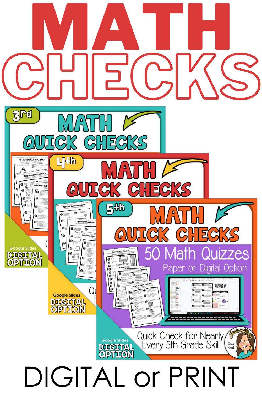 3rd 5th Grade Math Quick Checks Teaching Math Elementary Studying Math Math Lessons [ 1500 x 1000 Pixel ]